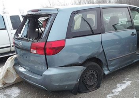 image of car after getting hit
