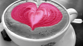 photo of a cup of pink