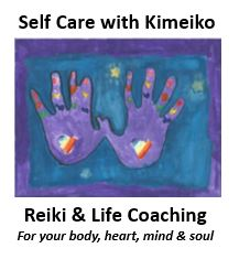 logo Self Care with Kimeiko - Reiki and Life Coaching for your body, heart, mind and soul